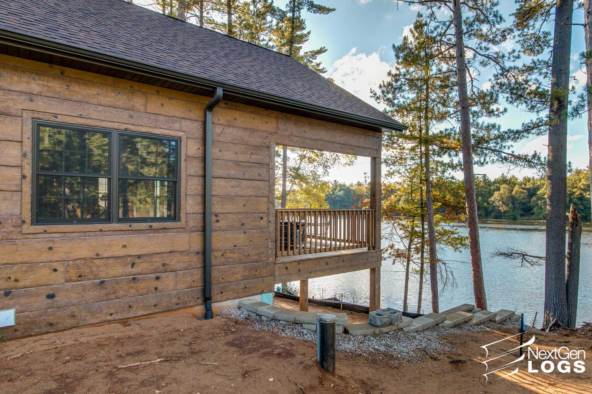 Hand Hewn Siding Lake Home Project Nextgen Logs