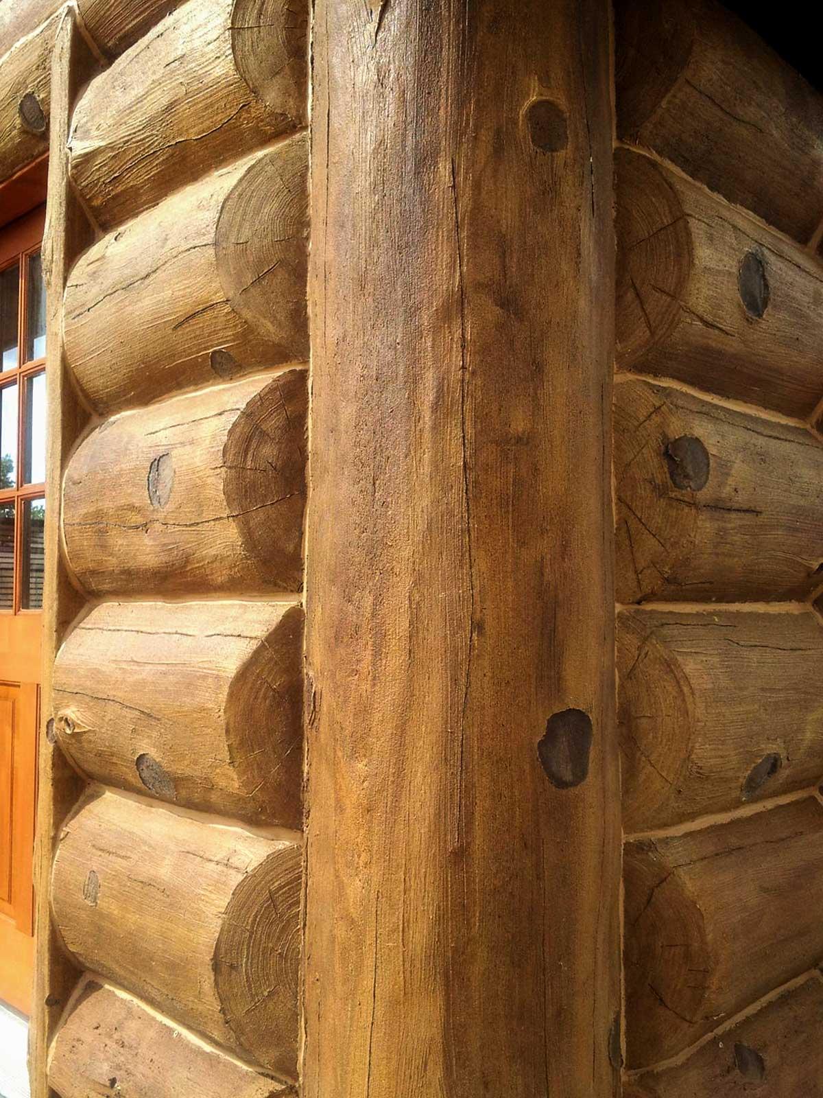 Vertical Outside Corner Concrete Log Trim Nextgen Logs