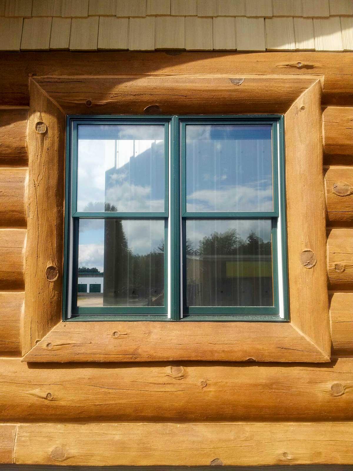 Window Concrete Log Trim Nextgen Logs