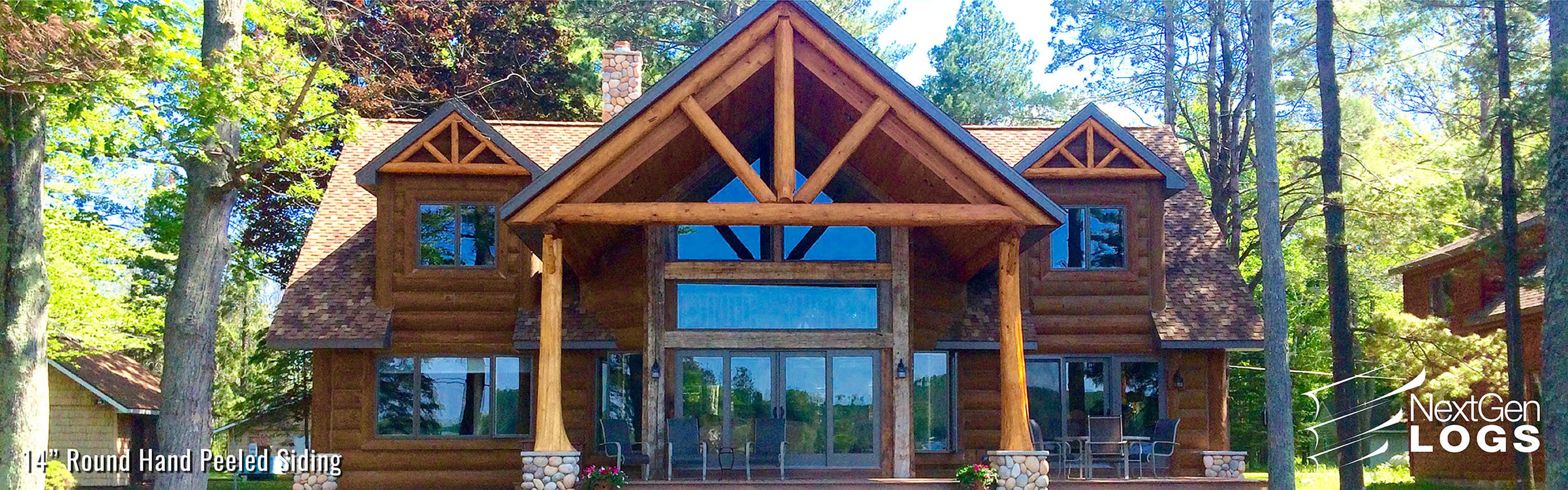 NextGen_Logs_Concrete_Log_Siding_lake_home