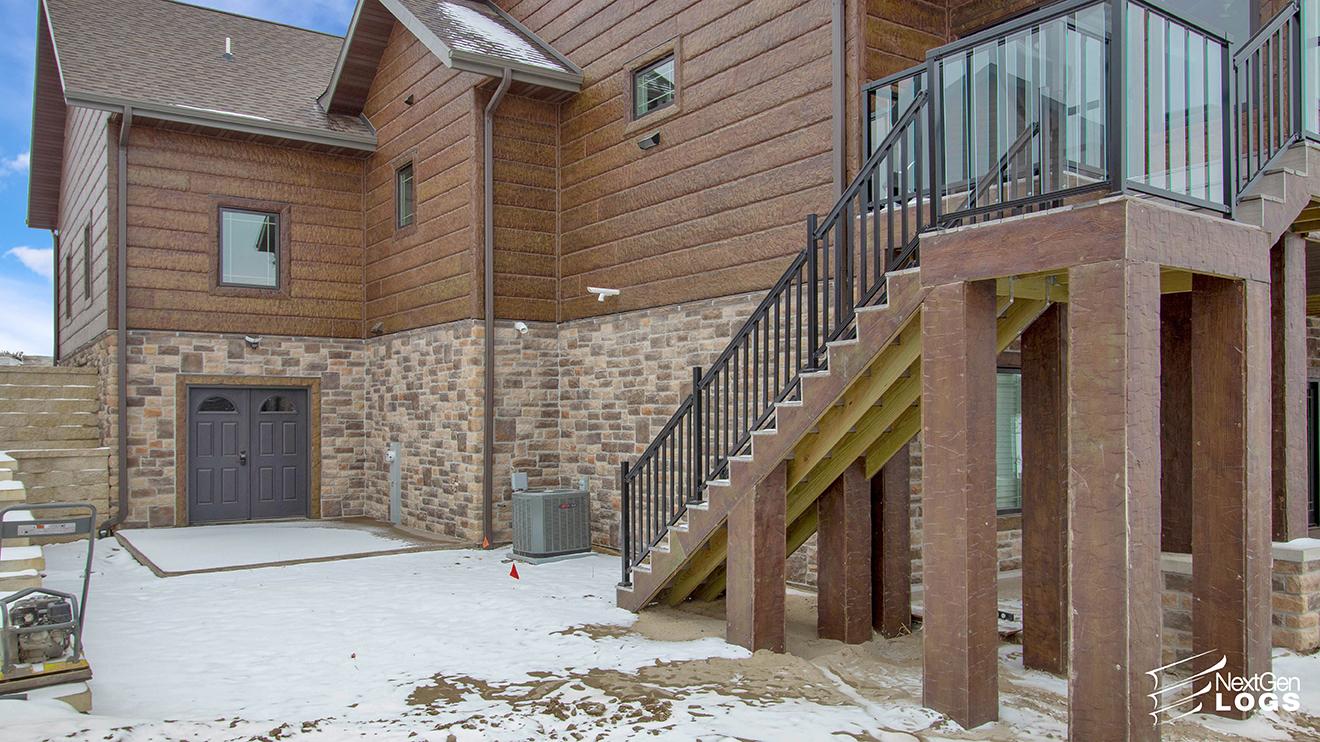 Island Lake Home Hand Hewn Concrete Siding Nextgen Logs