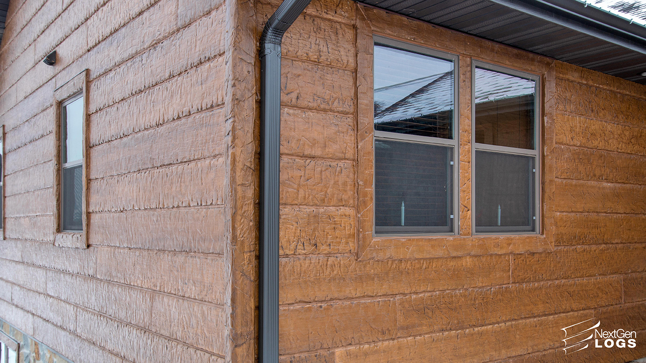 Castle Rock Lake Home Hand Hewn Timber Siding Nextgen Logs