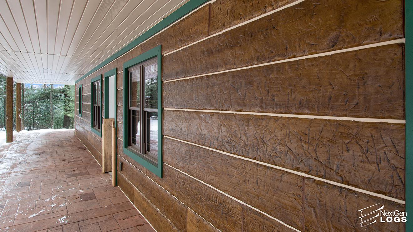 Ranch Home Hand Hewn Timber Concrete Siding Nextgen Logs